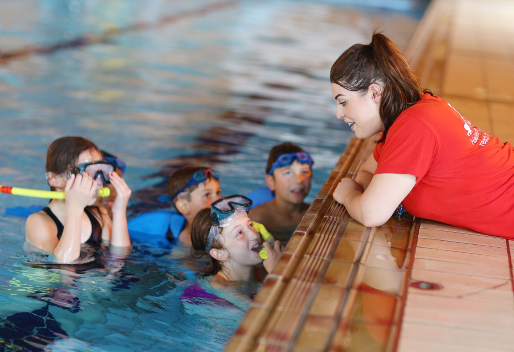 Kids swim coaching