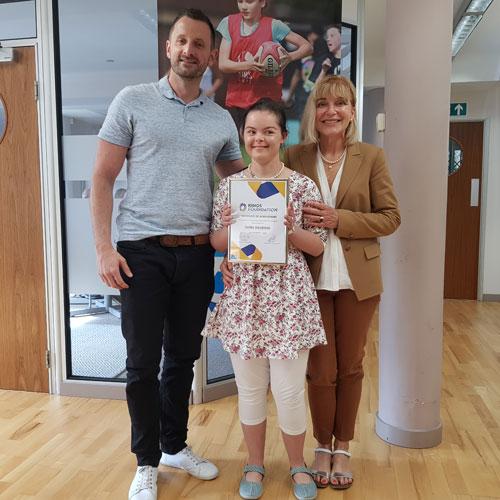 Isobel's coaching skills recognised for award